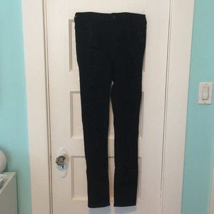 Abercrombie Ripped Black Jeans